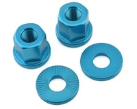 "Image 1 for The Shadow Conspiracy Featherweight Alloy Axle Nuts (Blue) (3/8"" (10mm))"