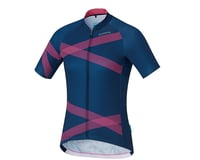 Image 2 for Shimano W's Team Shimano Jersey Navy/Pink XS Women's (NVYPNK) (XS)