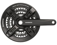 Shimano Altus FC-M311 Crankset (Black) (3 x 7/8 Speed) (Square Taper)