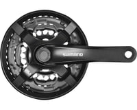 Shimano Tourney FC-TY501 Crankset - 175mm, 6/7/8-Speed, 42/34/24t, Riveted, Squa