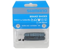 Image 2 for Shimano R55C4-1 Brake Shoes & Fixing Bolts for Wide Carbon Rims (24-28mm)