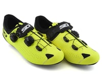 Image 4 for Sidi Genius 10 Road Shoes (Black/Flo Yellow) (47)