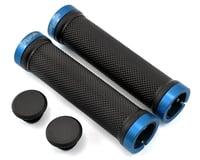 Spank Spoon Locking Grips (Black/Blue)