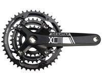 SR Suntour XCM-T Crankset - 175mm, 9-Speed, 44/32/22t, 104/64 BCD, Square Taper