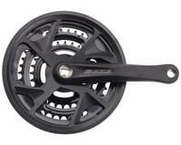 SR Suntour XR-T Crankset - 175mm, 7-Speed, 48/38/28t, Riveted, Square Taper JIS