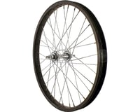 "Sta-Tru Front Wheel 20"" Black Steel Rim, Solid Axle, and 36 Spokes, Includes Axl"
