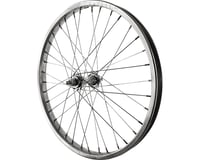 "Sta-Tru Front Wheel 20"" Silver Steel Rim, Solid Axle, and 36 Spokes, Includes Ax"