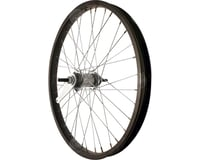 "Sta-Tru Rear Wheel 20"" Black Coaster Brake Steel Rim, Bolt-on Axle, 36 Spokes, I"