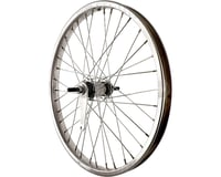 "Sta-Tru Rear Wheel 20"" Silver Coaster Brake Steel Rim, Solid Axle, and 36 Spokes"