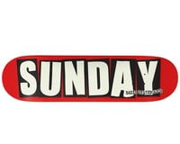 "Sunday X BAKER Skate Deck (8.25 x 31.875"") (Red/White/Black)"