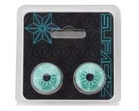 Image 2 for Supacaz Star Plugz Bar Plugs (Bora Team Turquoise)