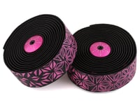 Supacaz Super Sticky Kush Handlebar Tape (Starfade Black & Pink)