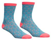 Supacaz SupaSox Asanoha Socks (Neon Blue/Coral)