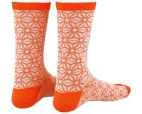 Supacaz SupaSox Asanoha Socks (White/Coral)