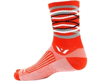 Image 2 for Swiftwick Vision Five Infinity Sock (Orange) (L)