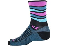 Image 2 for Swiftwick Vision Five Wave Sock (Black) (M)