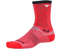 Image 1 for Swiftwick Vision Seven Tread Sock (Red) (M)