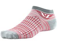 Image 1 for Swiftwick Aspire Stripe Zero Sock (Pewter/Red) (L)