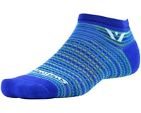 Image 1 for Swiftwick Aspire Stripe Zero Sock (Royal/Green) (S)
