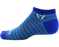 Image 2 for Swiftwick Aspire Stripe Zero Sock (Royal/Green) (S)