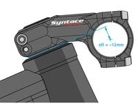 """Image 2 for Syntace Flatforce Stem (31.8mm) (1-1/8"""") (77mm Length) (-18°) (-12mm Drop)"""