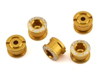 Image 1 for Tangent Alloy Chainring Bolts (4mm) (Gold)