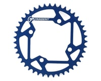 Image 1 for Tangent Halo 4-Bolt Chainring (Blue) (43T)