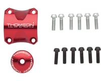 Thomson Stem Faceplate Dress Up Kit (Red) (For X4) (31.8mm)