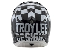 Image 2 for Troy Lee Designs D3 Fiberlite Helmet (Raceshop White) (M)