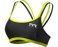 Image 1 for Tyr Competitor Thin Strap Women's Bra (Black/Lime)