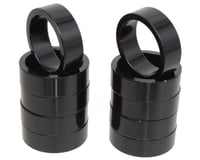"Vuelta Aluminum Headset Spacers (Black) (1"") (10mm) 