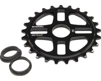 We The People 4Star Sprocket 25t Black 23.8mm Spindle Hole With Adaptors for 19m