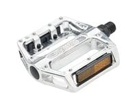 """Wellgo B087 Pedals - Platform, Aluminum, 9/16"""", Silver"""