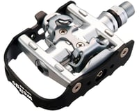 "Wellgo WPD-95B Pedals - Single Side Clipless with Platform, Aluminum, 9/16"", Bla 