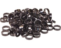 "Wheels Manufacturing 1-1/8"" Headset Spacers (Black) (100)"