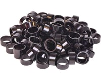 "Wheels Manufacturing 1-1/8"" Headset Spacers (Black) (100) (15mm)"