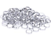 """Wheels Manufacturing Bulk Headset Spacers 1-1/8"""" x 10mm Silver, Bag of 100"""