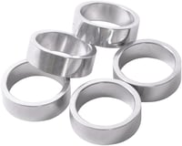 """Wheels Manufacturing 1"""" Headset Spacer (Silver) (5) (10mm)"""