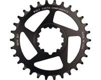 Image 1 for Wolf Tooth Components Direct Mount BB30 Drop-Stop Chainring (Black) (0mm Offset) (34T)