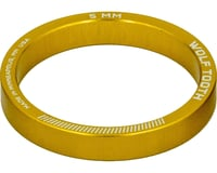 """Wolf Tooth Components 1-1/8"""" Headset Spacers (Gold) (5) (5mm)"""