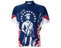 Image 2 for World Jerseys 1776 Minutemen Short Sleeve Jersey (Blue/White)