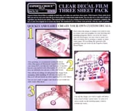 Bare Metal Foil Co 122 Ink Jet Clear Decal Film 8.5 x 11 - 3 Pack