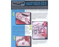 Bare Metal Foil Co 123 Laser Clear Decal Film 8.5 x 11 - 3 Pack