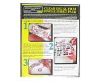 Bare Metal Foil 124 Clear Decal Film 8.5x11' Laser