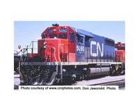 HO SD40 w DCC & Sound CN Noodle Red Black #5094