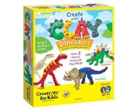 Creativity for Kids CFK6174000 Create 3 Clay Dinosaurs with modeling clay