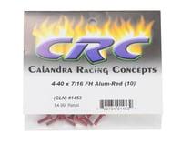 "Image 2 for CRC 4-40x7/16"" Aluminum Flat Head Screw (Red) (10)"