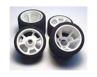 "Image 1 for CRC ""Pro-Cut"" 1/12 Rear Tires (2) (White) (Magenta)"