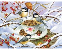 Cobble Hill Puzzles Cobble Hill 88001 Chickadee Tea by Artist Jane Maday 275 Pcs Birds Jigsaw Puzzle