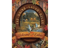 Cobble Hill Puzzles Cobble Hill 88005 Welcome to the Cabin by Artist Sam Timm 275 Piece Cottage/Cabin Jigsaw Puzzle